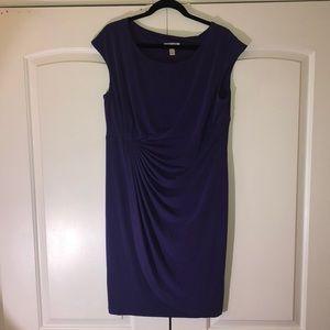 Purple short sleeve dress